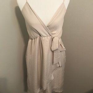 Off white tie dress